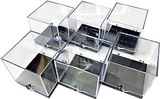 鉱物ケースL パーキーケース 標本ケース 収納ケース ディスプレイケース 6.8x7.6*x6.8cm(*突起部分含む) (12個セット 6個セット 2個セット あり) (6個)