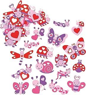 Baker Ross Autocollants Insecte et Cœur en mousse que les enfants pourront, Lot de 120 - version anglaise