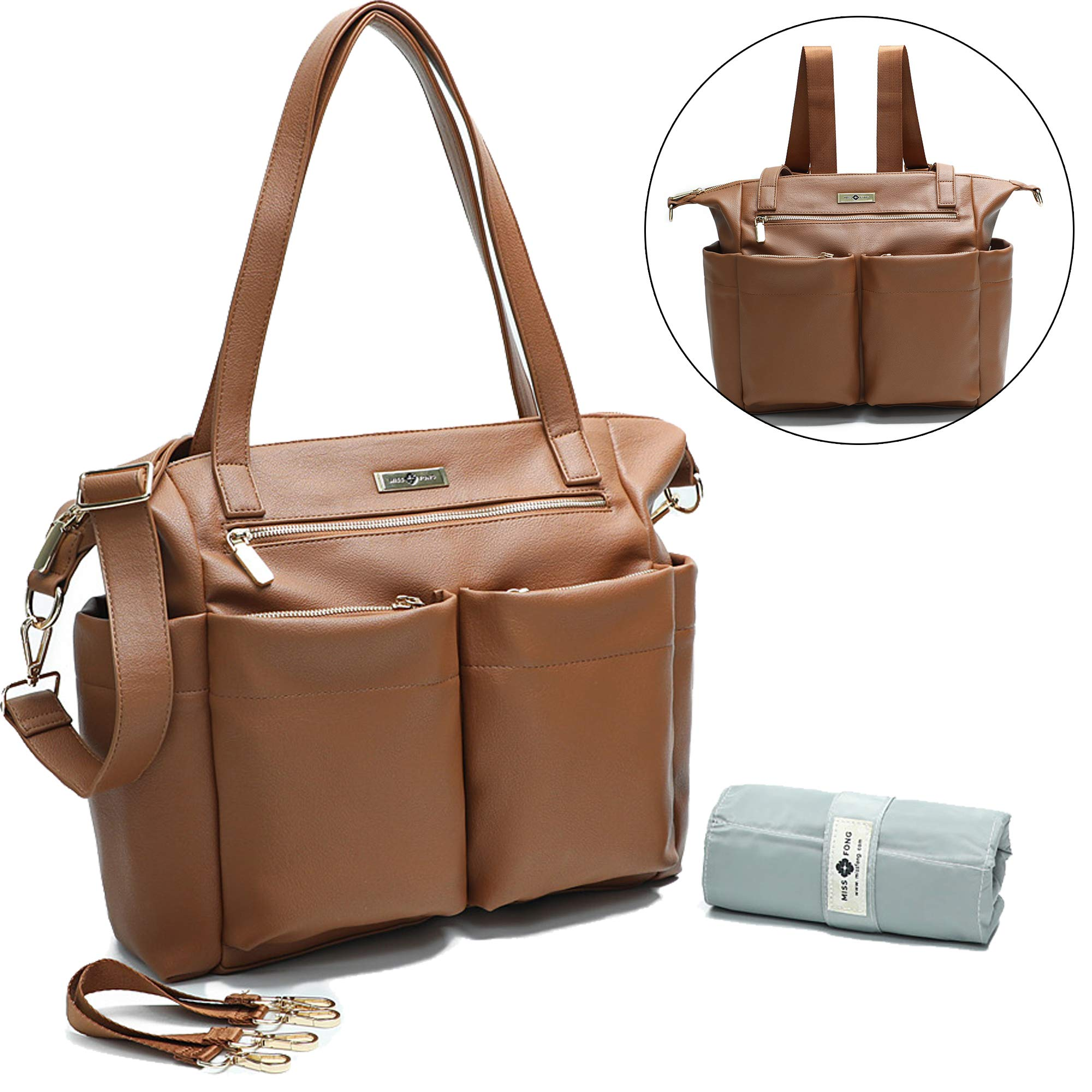 Leather Diaper Chaining Stroller Insulated