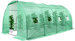 VIVOSUN 13.1x10x6.6FT Large Walk-in Green House Tunnel Hot House for Outdoor Plant Gardening