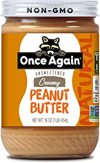 Once Again Natural, Creamy Peanut Butter - Lightly Salted, Unsweetened - 16 oz Jar