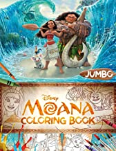 Moana Coloring Book: Moana Great Jumbo Coloring Book For Kids Ages 4-8