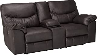 Signature Design by Ashley Boxberg Power Reclining Loveseat with Console, Teak