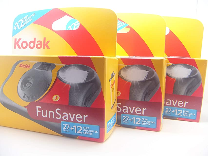 Kodak Fun Flash Disposable Camera – 39 Expo sures 3 Pack