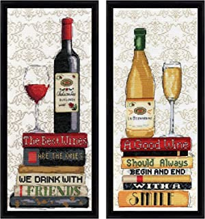 Design Works - Wine Decor - Counted Cross Stitch Kits: Red Wine Kit, White Wine Kit, and Gift Cards