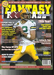 FANTASY FOOTBALL PRO FORECAST MAGAZINE (300+ PLAYER PROFILES) ISSUE, 2017