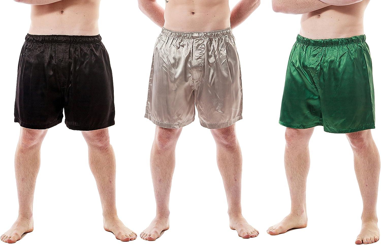 Men's Satin Boxer Shorts Combo Pack Set of Max 44% OFF Washington Mall S Fashion 3 Up2date