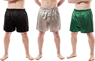 Up2date Fashion Men's Satin Boxer Shorts Combo Pack, Set of 3, Style-MSC01B