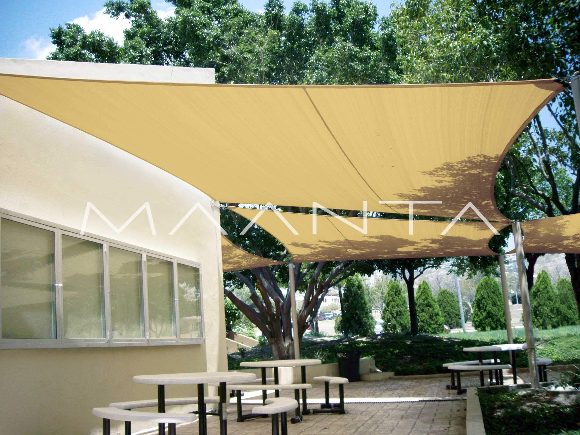 Maanta EasyShade - Cortinas con toldo EasyShade Breathable-HDPE 180 g/m², Beige: Amazon.es: Jardín