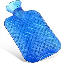 delibett W/ärmflasche mit Bezug W/ärmflaschen mit Super Soft Pl/üschbezug und Premium Naturkautschuk Sicher und Langlebig W/ärmeflasche f/ür Familie