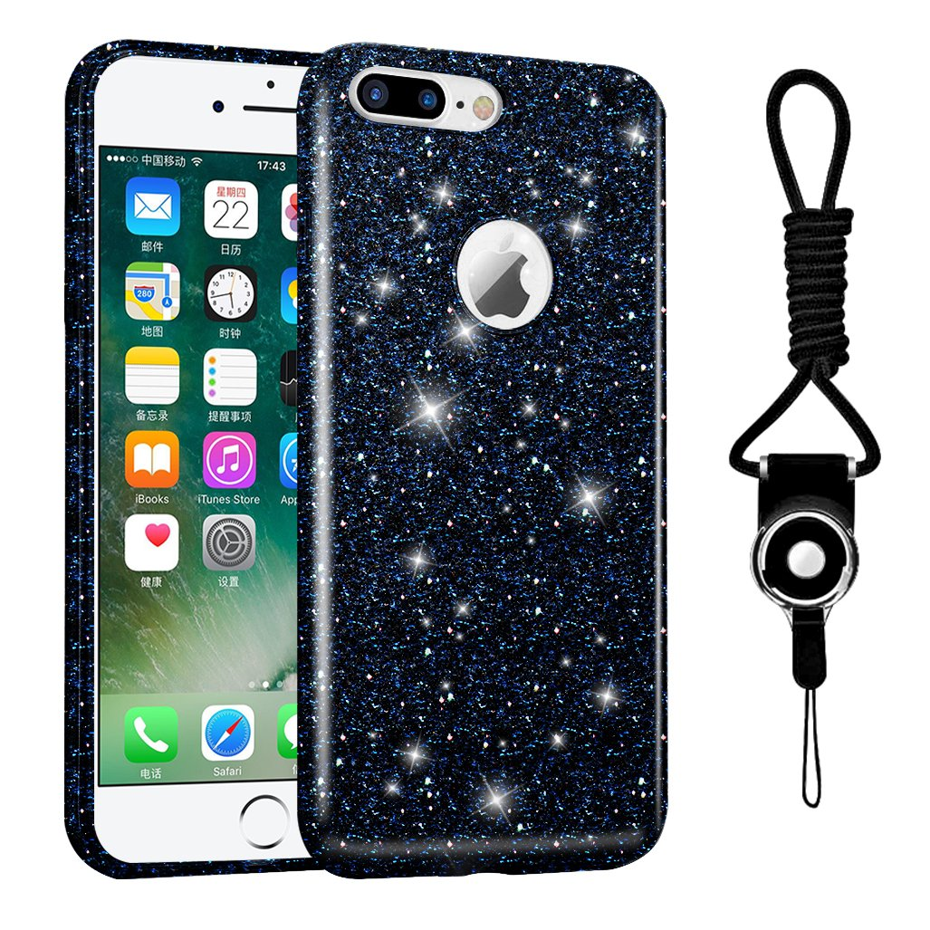 designer iphone 7 plus case amazon comhanlesi iphone 7 plus case case fashion glitter shiny gradient bling silicone protective cover for apple