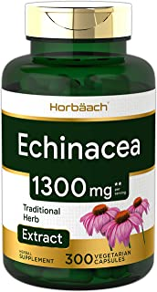 Echinacea Extract Capsules 1300mg | 300 Count | Vegan, Non-GMO, Gluten Free Supplement | by Horbaach