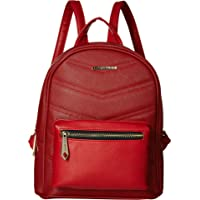 Rampage Womens Chevron Quilted Midi Backpack (Red)