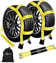 Trekassy Wheel Net Car Tow Dolly Straps with Flat Hooks 2 Pack Heavy Duty for 14