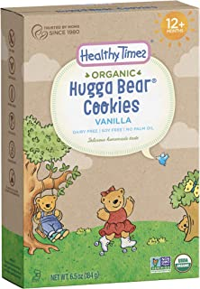 Healthy Times Organic Hugga Bear Cookies for Kids, Vanilla | For Toddlers, 12 Months and Older | 6.5 Oz. Box, 1 Count