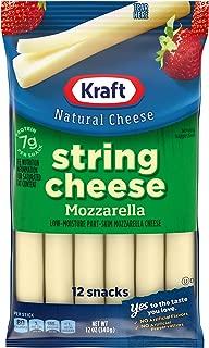 Kraft Low Moisture Mozzarella String Cheese (12 Count Bag)
