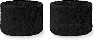 COUVER Youth Wrist Sweatband - Solid Cotton Terry Colth Sport Wristband(1 Pair)