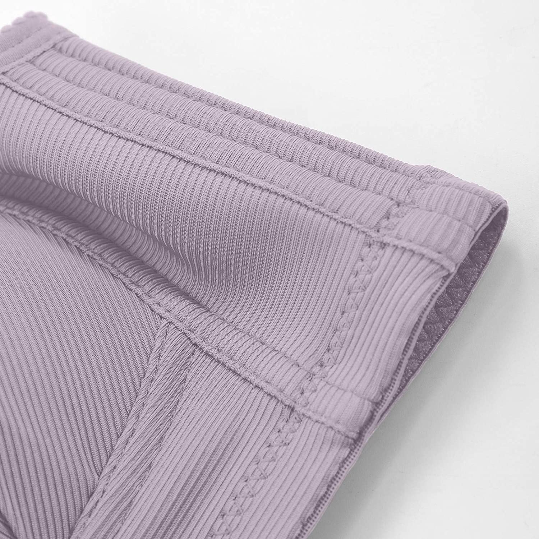 Arystk Women's Plus Size Solid Bra Wire Free Underwear One-Piece Bra Everyday Underwear Wire-Free Underwear Beige