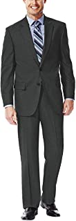 Haggar Men's Premium Performance Stretch Stria Suit Jacket and Pants Classic FIt