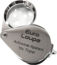EuroTech Euro Loupe 10x Oval Hasting Triplet Loupe 18mm Chrome