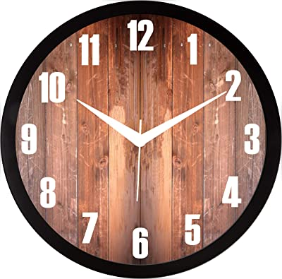 RAG28 11.75 Inches Designer Wall Clock for Home/Living Room/Bedroom/Kitchen (13034)