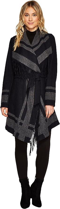 Vince Camuto - Wool Fringe Coat N1271