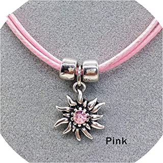 miss out Fashion Silver Elegant Edelweiss Necklace Women Simple Rope Chain Choker Necklace Flower Collares de Moda 2019