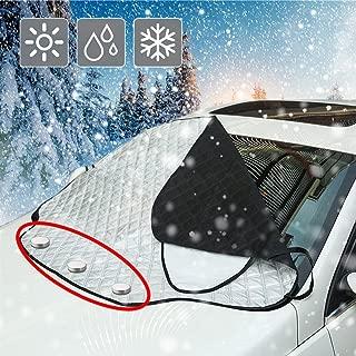 Staub Sonne EIS BougeRV Sonnenschutz Auto Windschutzscheibe Abdeckung Frostschutz Auto mit Aufbewahrungstasche gegen UV-Strahlung Frost Frontscheibenabdeckung Auto f/ür Tesla Model 3 Schnee