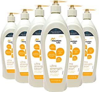 Mountain Falls Moisturizing Ultra Strength Lotion With Vitamins C, E & B5, 21 Fluid Ounce (Pack of 6)