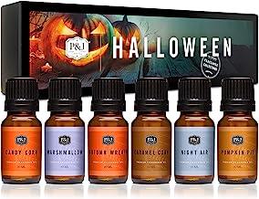 Halloween Set of 6 Premium Grade Fragrance Oils - Autumn Wreath, Pumpkin Pie, Candy Corn, Marshmallow, Night Air, Caramel ...