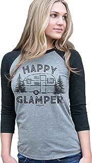 Happy Glamper Funny Unisex Tri-Blend Raglan Baseball T-Shirt