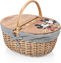 Disney Classics Mickey and Minnie Mouse Country Basket with Liner, Navy/White Stripe