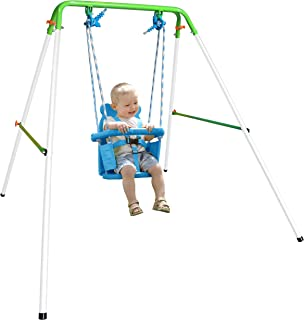 Sportspower My First Toddler Swing – Heavy-Duty Baby Indoor/Outdoor Swing Set with..
