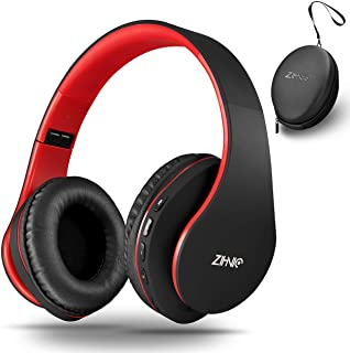 Bluetooth Over-Ear Headphones, Zihnic Foldable Wireless and Wired Stereo Headset Micro SD/TF, FM for iPhone/Samsung/iPad/P...