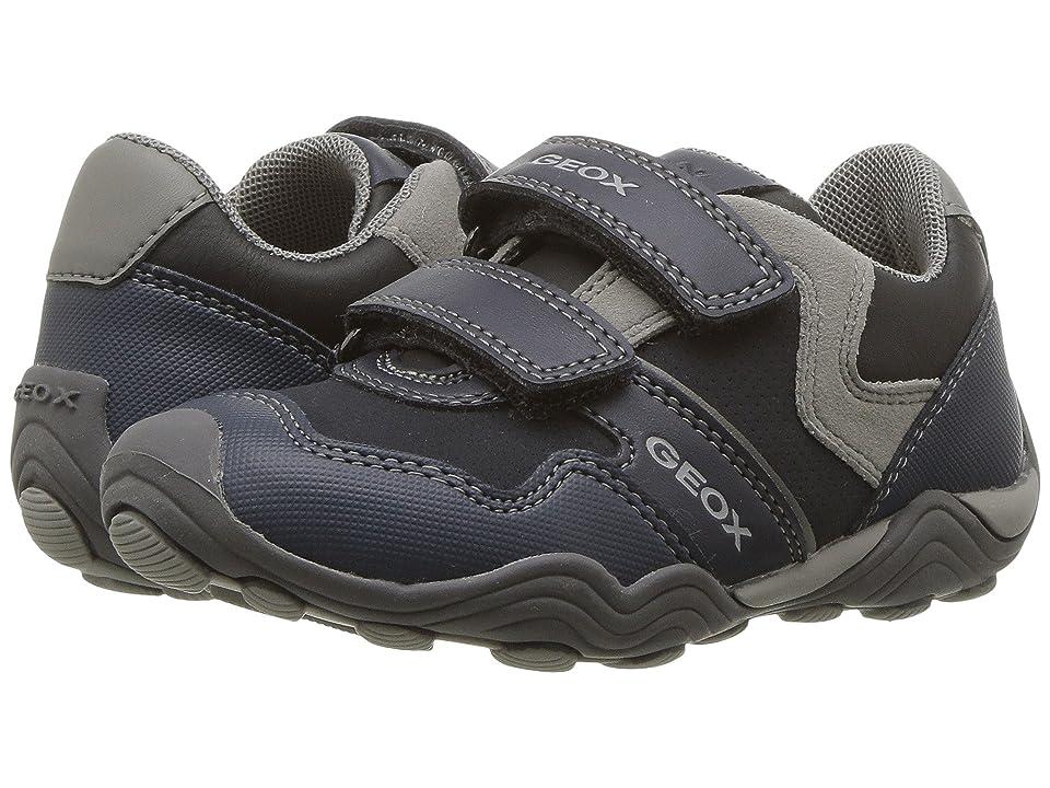 Geox Kids Jr Arno 13 (Toddler/Little Kid) (Navy/Grey) Boys Shoes