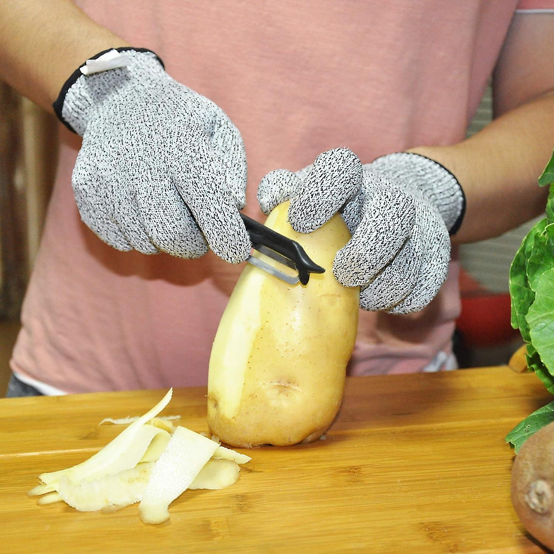 Reparatur und die meisten K/üchenschneider Hobeln. S 2 Paar schnittfeste Handschuhe in Lebensmittelqualit/ät Sicherheitshandschuhe f/ür Hofarbeit