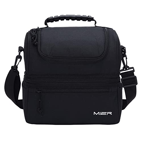 26699f6eee6 MIER Insulated Lunch Box Large Insulated Cool Tote Bag Lunch Kit for Men,  Women,