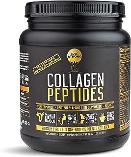 Collagen Peptides Protein Powder Sol Strong | Collagen Powder | Pasture-Raised, Non-GMO & Grass-Fed | Hydrolyzed Collagen ...