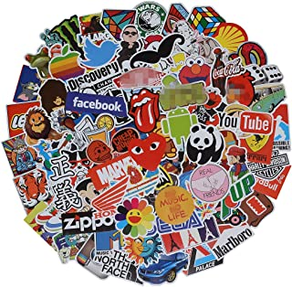 Stickers Pack Cool, 100 Pcs Vinyl Waterproof Stickers, for Laptop, Luggage, Car, Skateboard, Motorcycle, Bicycle Decal Graffiti Patches (Stickers - 2)