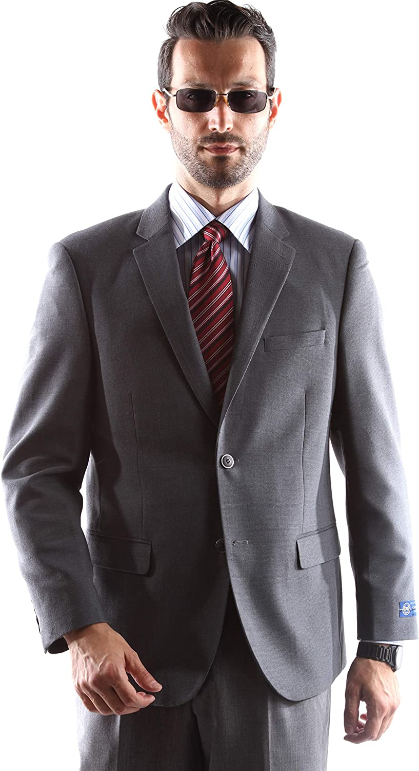 Men's Superior 150s Single Breasted Two Button Gray Blazer Size Extra Long 54