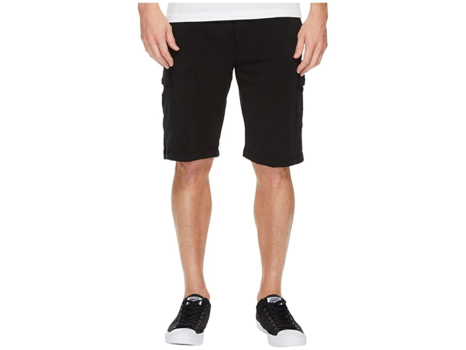Mod-o-doc Bayside Deluxe Fleece Cargo Shorts (Black) Men