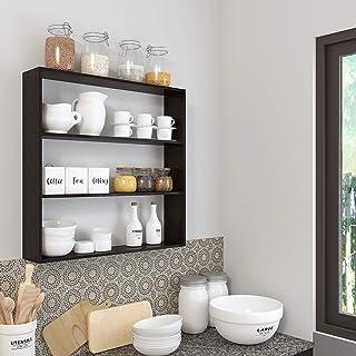 Furnifry Wooden Kitchen Wall Shelf for Storage Boxes, Kitchen ShelfRacks, Kitchen Shelf Organizer, Kitchen Wall Mounted R...