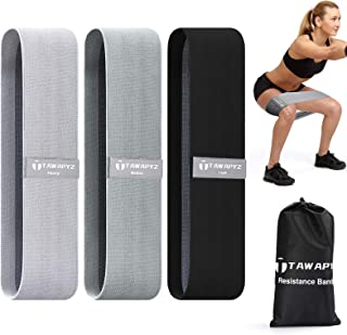 Resistance Bands, Fabric Booty Bands for Legs and Glute【3 Sets Upgrade Thicken 】 Exercise Bands Fitness Bands,Anti-Slip & ...