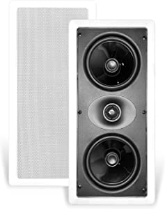 """CT Sounds Bio 5.25"""" LCR Weatherproof in-Wall Surround Sound Speakers (Single) - Home Stereo, Theater, Kitchen, Outdoor in-Wall Speakers"""