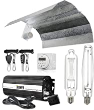 iPower Horticulture 1000 Watt HPS MH Digital Dimmable Ballast Grow Light System Kits Wing Reflector Hood Set with Timer