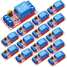 Weewooday 15 Pieces 5V Relay Module 1- Channel Relay Control Boards with Optocoupler Isolation High and Low Level Trigger ...