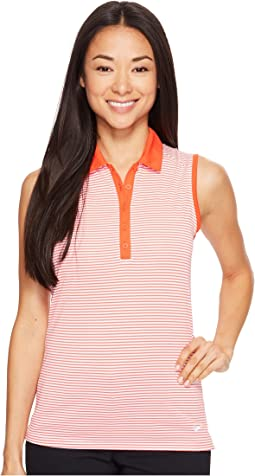 Victory Stripe Sleeveless Polo