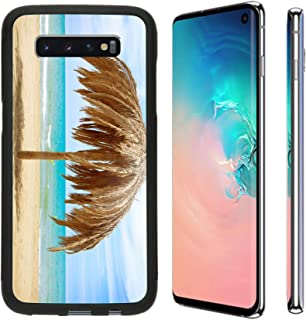 MSD Phone Case Designed for Galaxy S10 TPU Backplate with Silicone Rubber Bumper Snap Case Image ID: 20793592 Vacation Concept Palapa Sun Roof Beach Umbrella