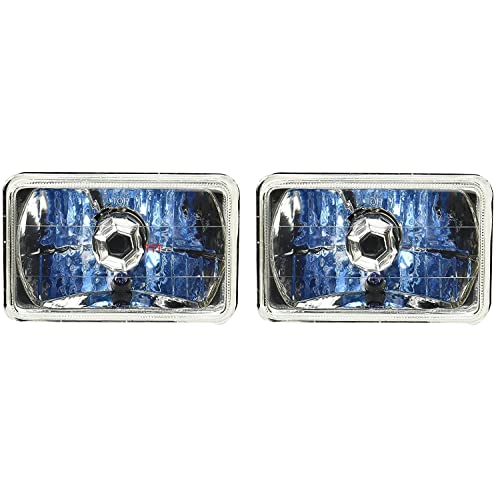 5x7 7x6 universal premium glass headlight smoked black housing diamond cut  lens h4 xenon halogen head