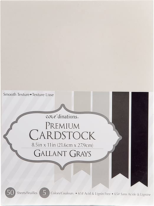 Darice 8.5 X 11 Cardstock Sheet: Smooth acid-free white 50 Sheets for crafts